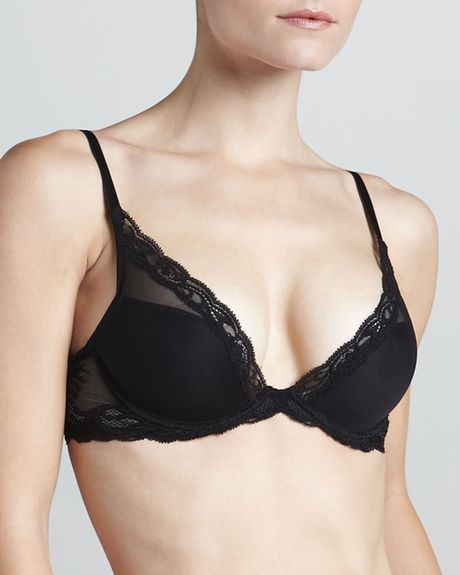 Natori 730023 Underwire Plunge Feather Bra