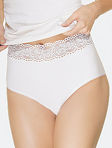 Wacoal 87535 875235 Cotton Blend Lace-Trimmed Brief